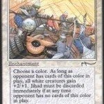 Jihad MTG Card: Boost all white creatures