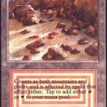 Plateau MTG Card: Mountains on a Plain