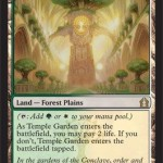 Temple Garden MTG Forest and Plains