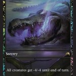 Languish MTG Card: Gives everyone -4/-4