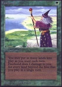 Fastbond Mtg Card Play Multiple Lands Green